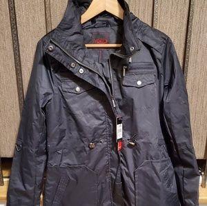 Jackets & Blazers - Women's hooded twill jacket